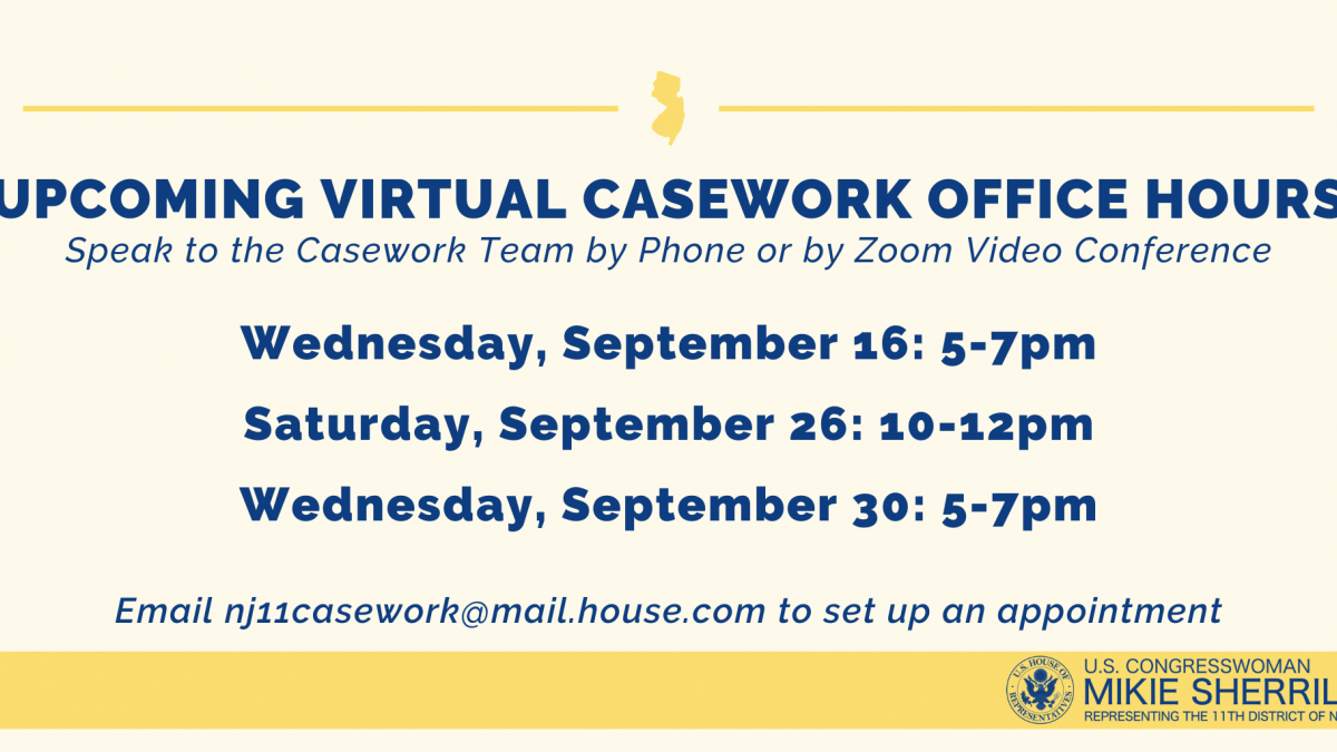 Upcoming Virtual Casework Office Hours