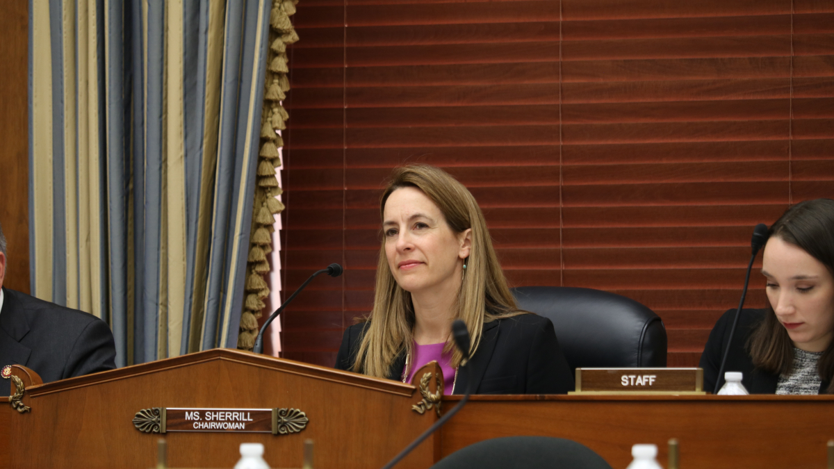 Chairwoman Sherrill at a House Science Investigations and Oversight Committee Hearing