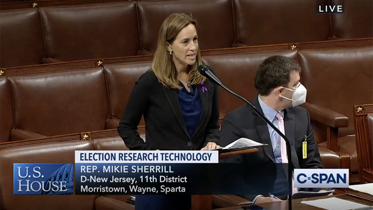 Rep. Sherrill speaks in favor of the Election Technology Research Act