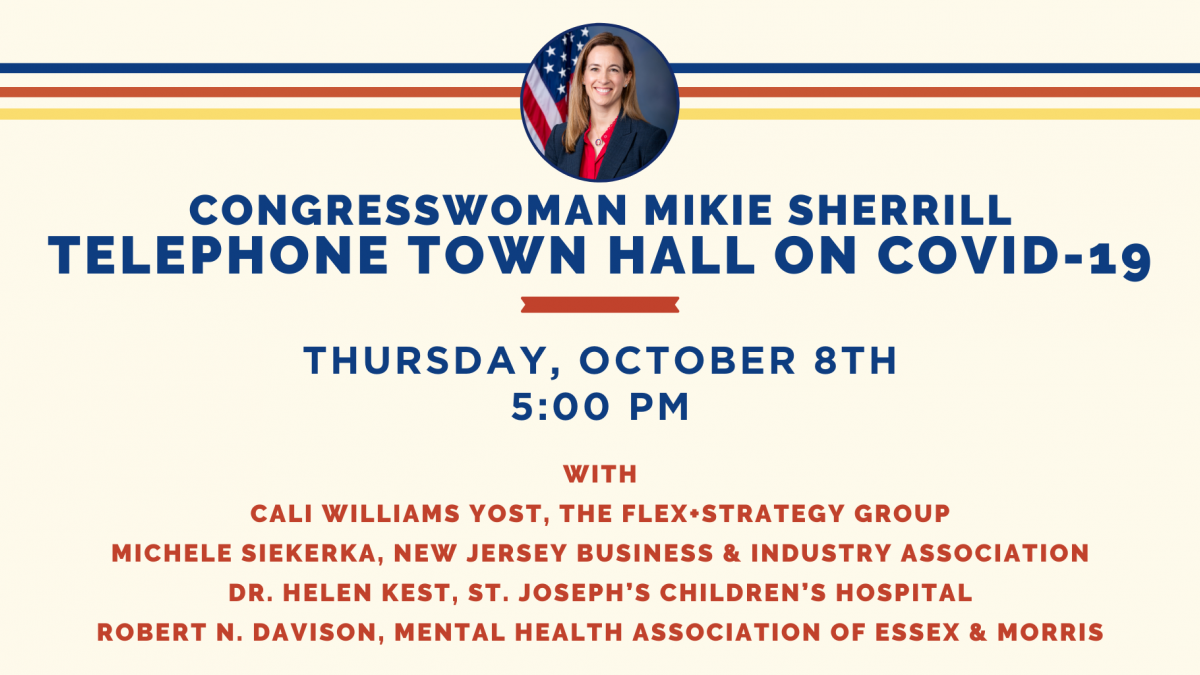 Telephone Town Hall on October 8th at 5:00pm
