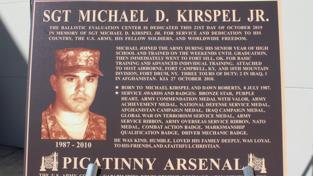 Honoring Sgt. Michael D. Kirspel, Jr.