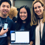 Rep. Sherrill with the 2018 NJ-11 Congressional App Challenge Winners