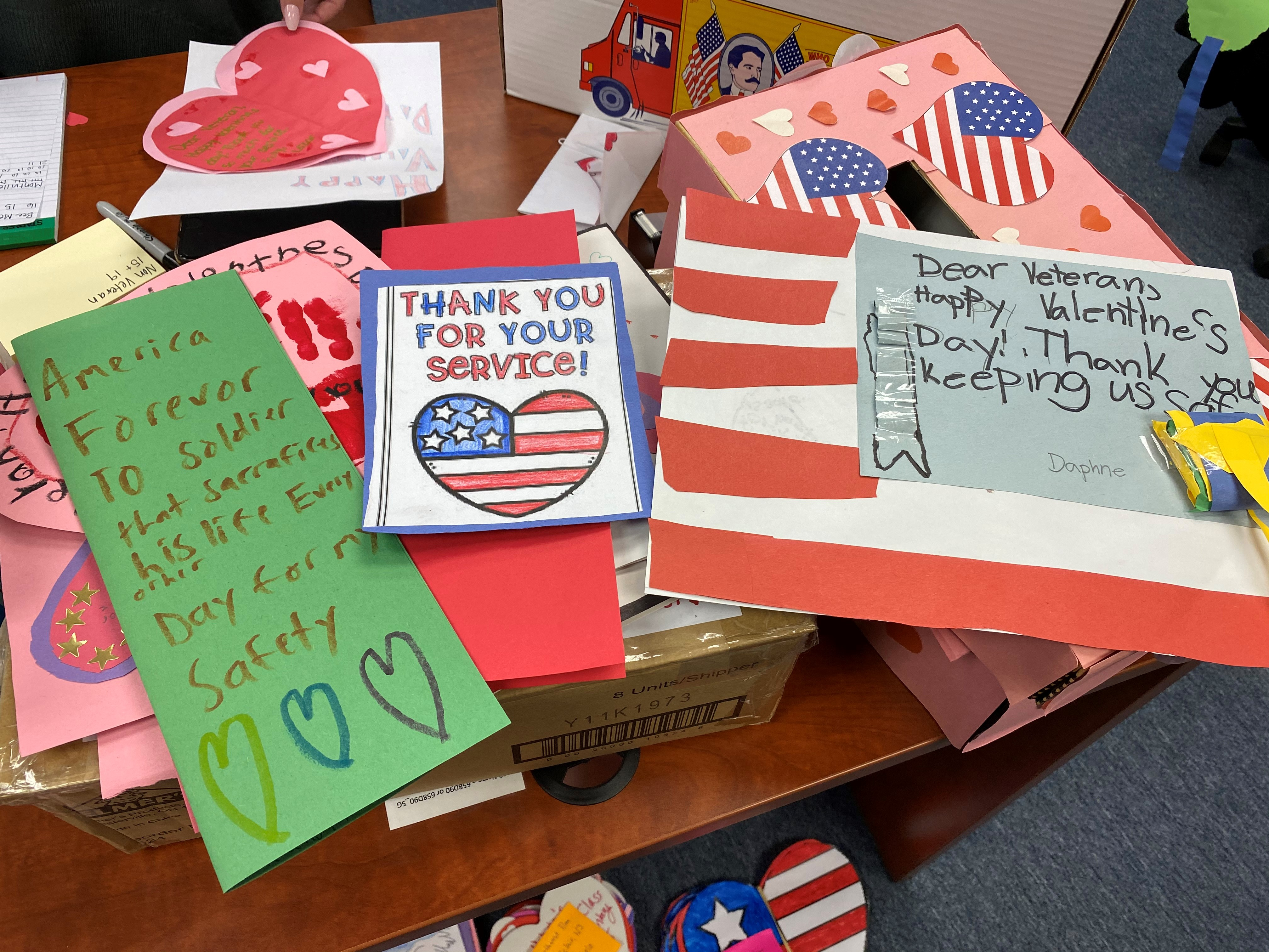 Rep. Sherrill's Office Received More than 4,000 Valentines for Veterans
